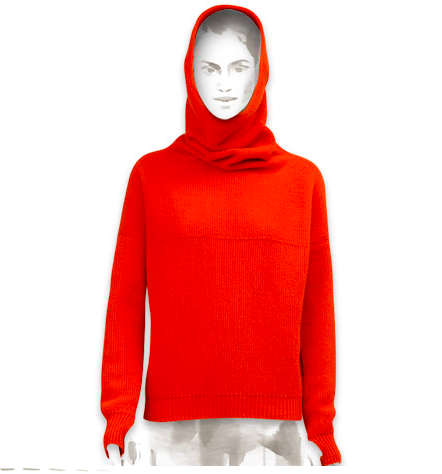 Hermès Chatlet Knit Hooded Collar Sweater