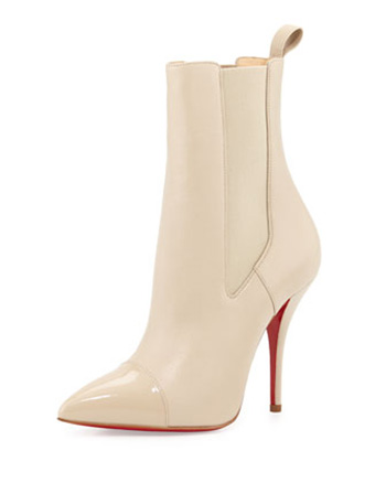 Christian Louboutin Tucson Cap-Toe Red Sole Bootie