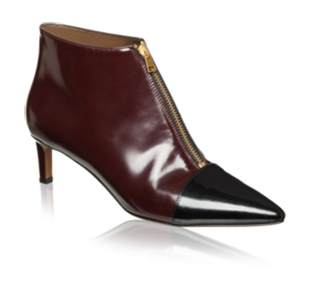 Marni Bordeaux and Charcoal Bootie