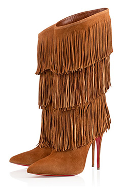 Christian Louboutin Tinafrange suede boots