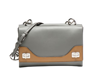 Prada Vitello Soft Bicolor Chain Shoulder Bag