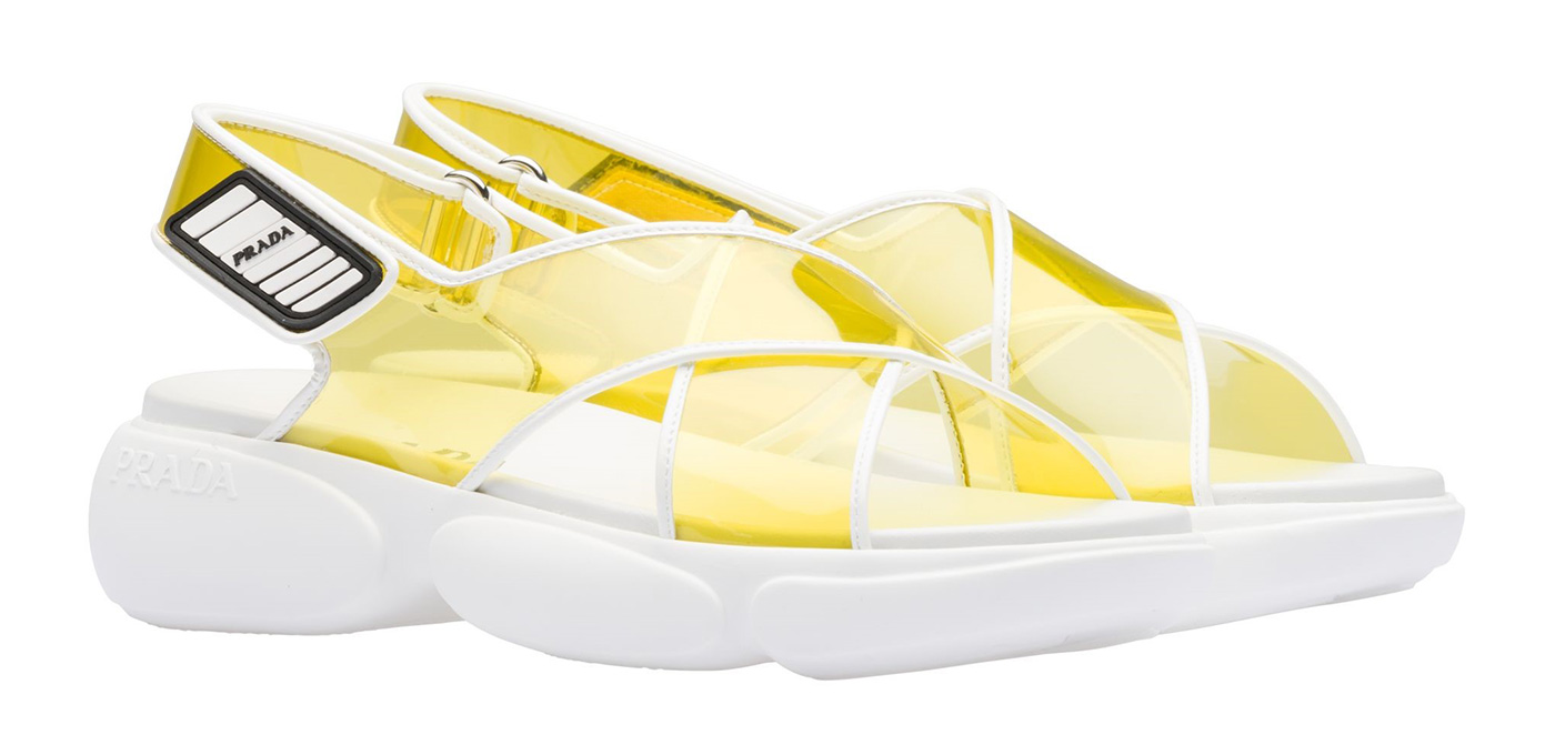 Prada's Cloudburst PVC sandals
