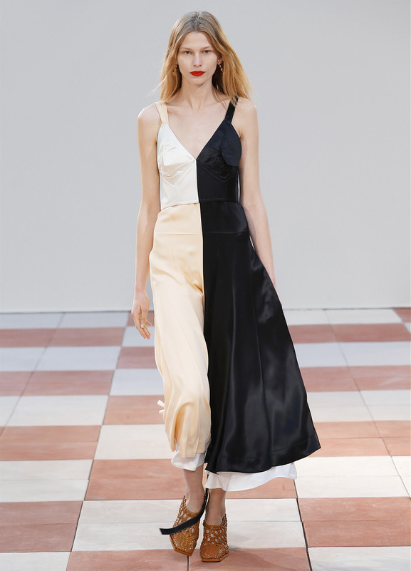 Céline's powder silk and viscose dress