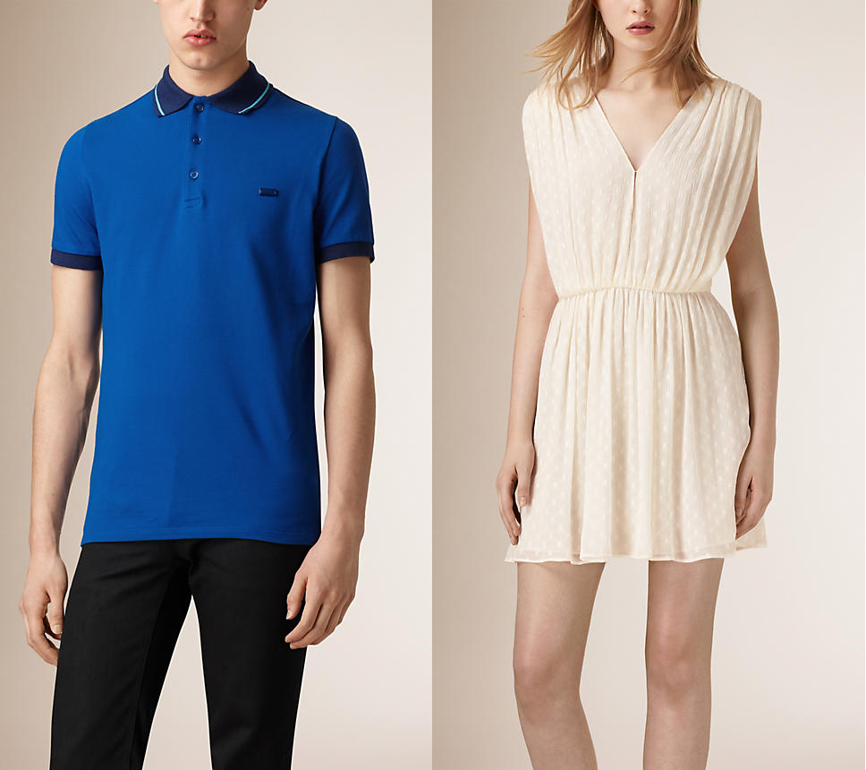 Burberry polo and chifon dress