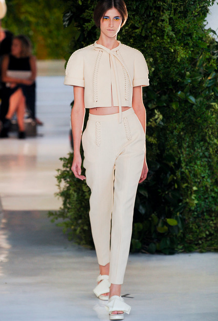Delpozo cropped top