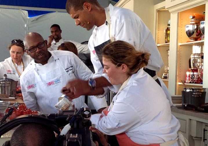 Dena Marino Cooks Up With Miami Heat Players at South Beach Wine and Food Festival