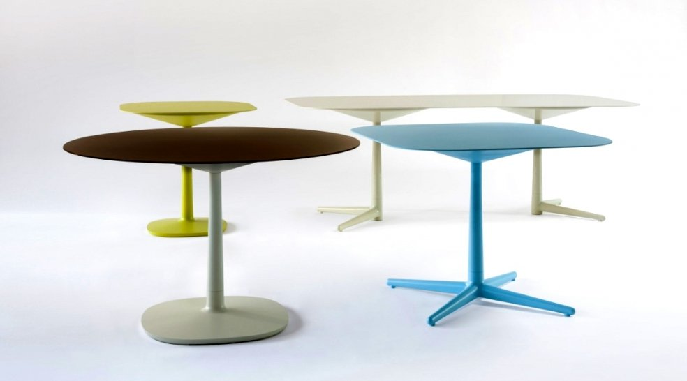 Multiplo Tables At Kartell Are Pieces Of Art