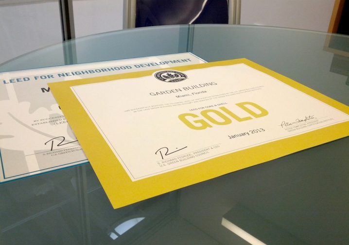 MDD has received LEED Gold certification for Neighborhood Development
