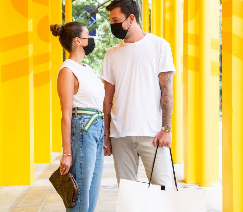 Shiva Safai and Niels Houweling spotted in the Miami Design District