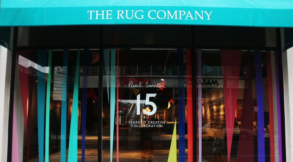 Paul Smith 15th anniversary collection for The Rug Company