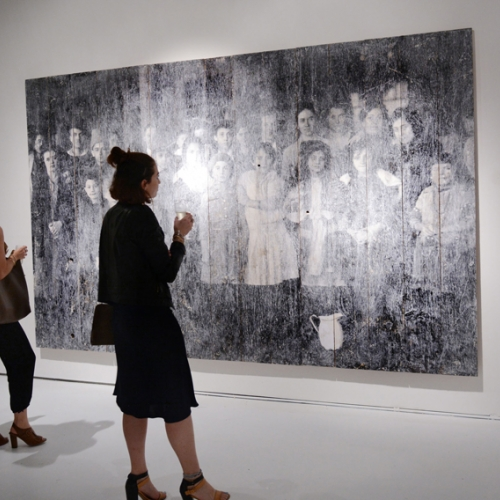 "Galerie Perrotin Opening Reception For Jr ""Ghosts of Ellis Island"""